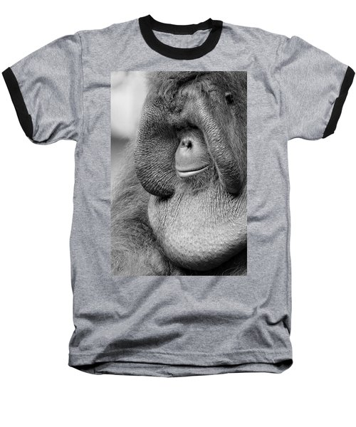 Bornean Orangutan V Baseball T-Shirt by Lourry Legarde