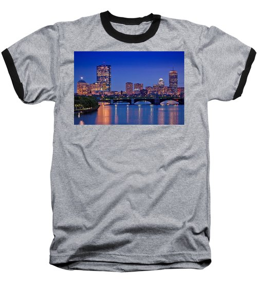 Boston Nights 2 Baseball T-Shirt by Joann Vitali