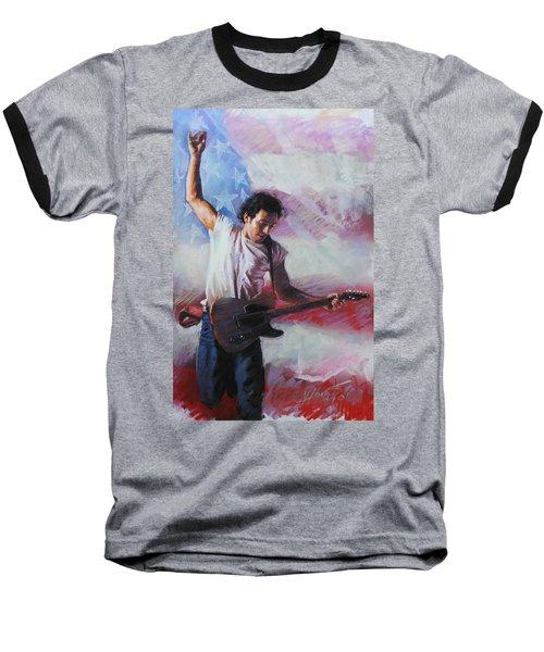 Bruce Springsteen The Boss Baseball T-Shirt by Viola El