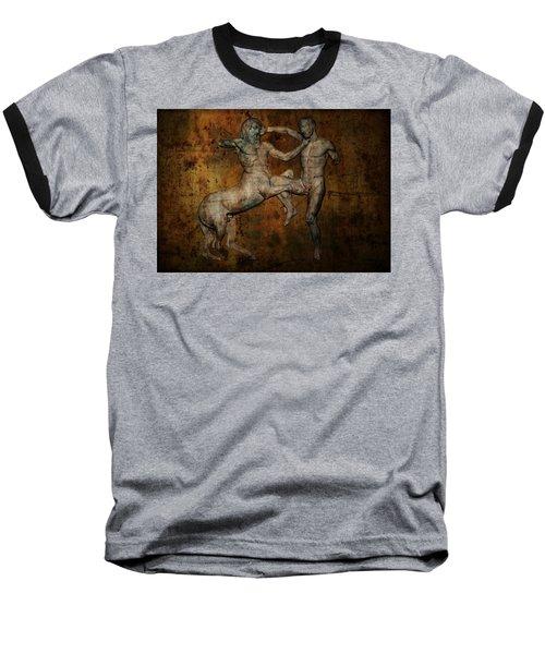 Centaur Vs Lapith Warrior Baseball T-Shirt by Daniel Hagerman