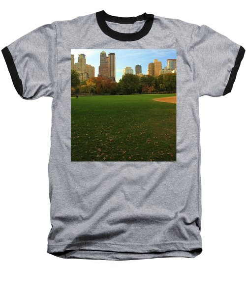 Central Park In Autumn Baseball T-Shirt by Dan Sproul