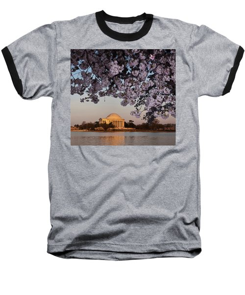 Cherry Blossom Tree With A Memorial Baseball T-Shirt by Panoramic Images