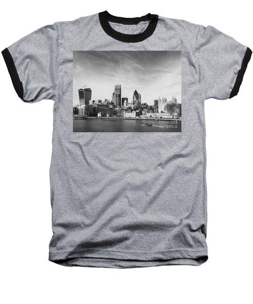 City Of London  Baseball T-Shirt by Pixel Chimp