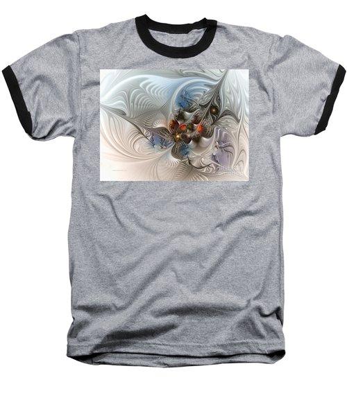 Cloud Cuckoo Land-fractal Art Baseball T-Shirt by Karin Kuhlmann