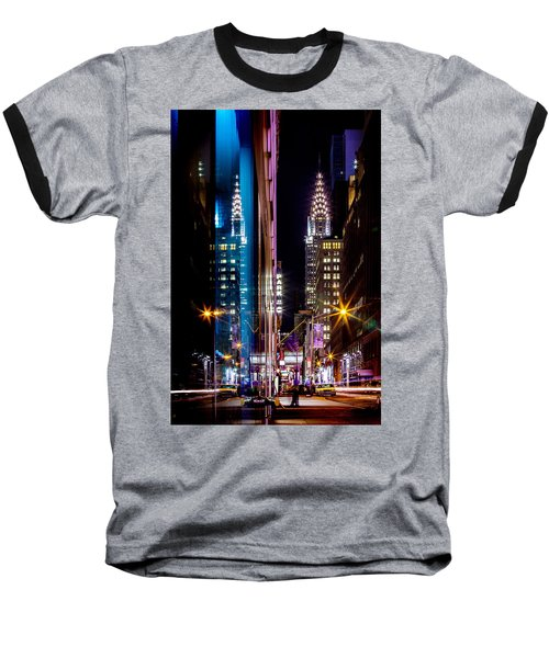 Color Of Manhattan Baseball T-Shirt by Az Jackson