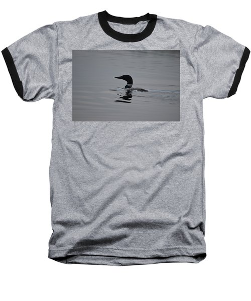 Common Loon Baseball T-Shirt by James Petersen