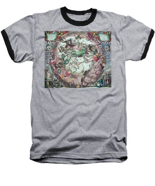 Constellations Of The Southern Hemisphere, From The Celestial Atlas, Or The Harmony Of The Universe Baseball T-Shirt by Andreas Cellarius