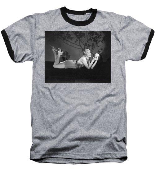 Contemplating A Grapefruit Baseball T-Shirt by Elmer Fryer