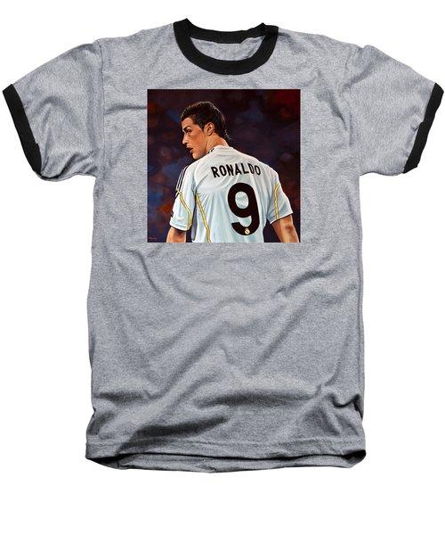 Cristiano Ronaldo Baseball T-Shirt by Paul Meijering