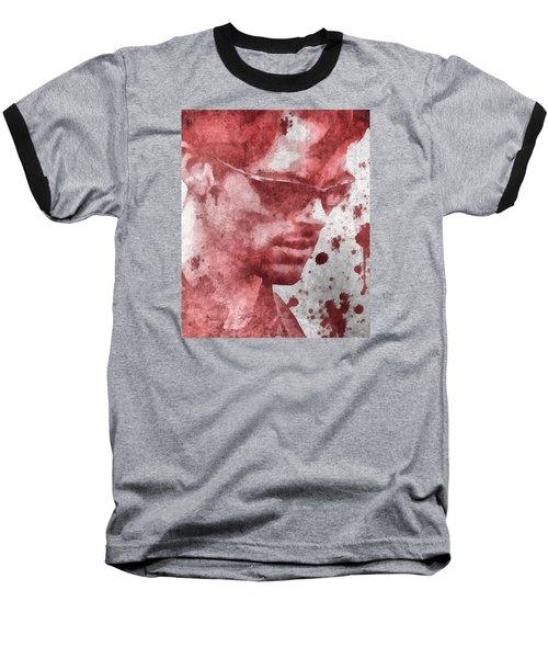 Cyclops X Men Paint Splatter Baseball T-Shirt by Dan Sproul