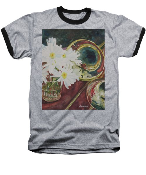 Daisies Bold As Brass Baseball T-Shirt by Jenny Armitage