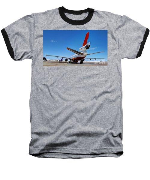 Baseball T-Shirt featuring the photograph Dc-10 Air Tanker  by Bill Gabbert