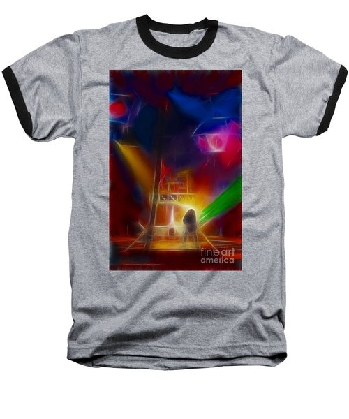 Def Leppard-adrenalize-gf10-fractal Baseball T-Shirt by Gary Gingrich Galleries