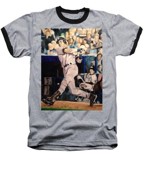 Derek Jeter Baseball T-Shirt by Lance Gebhardt