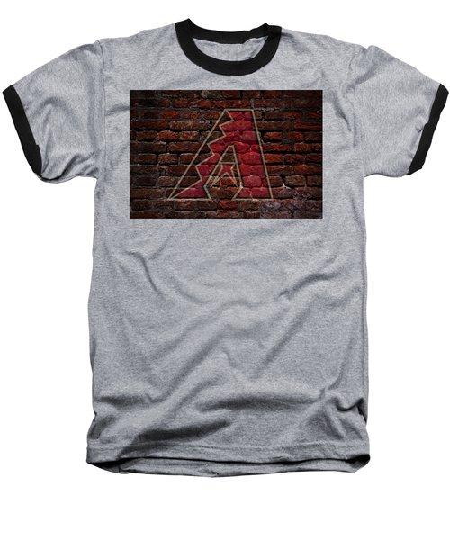 Diamondbacks Baseball Graffiti On Brick  Baseball T-Shirt by Movie Poster Prints