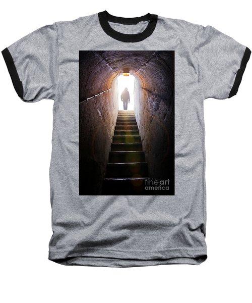 Dungeon Exit Baseball T-Shirt by Carlos Caetano