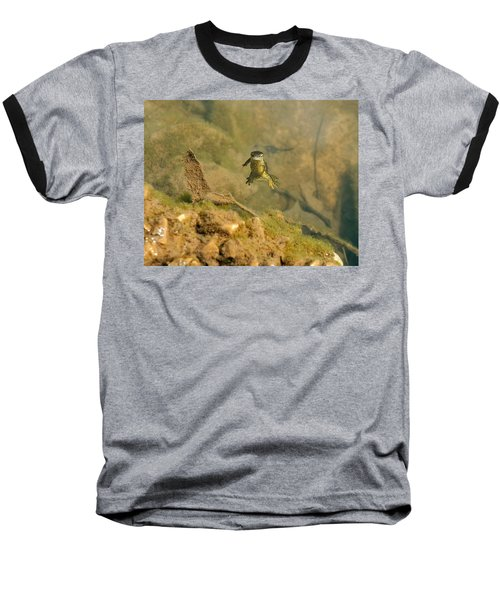 Eastern Newt In A Shallow Pool Of Water Baseball T-Shirt by Chris Flees