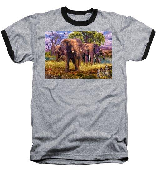 Elephants Baseball T-Shirt by Jan Patrik Krasny