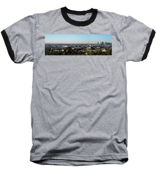 Elevated View Of City, Los Angeles Baseball T-Shirt by Panoramic Images