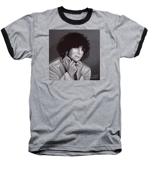Elizabeth Taylor Baseball T-Shirt by Paul Meijering