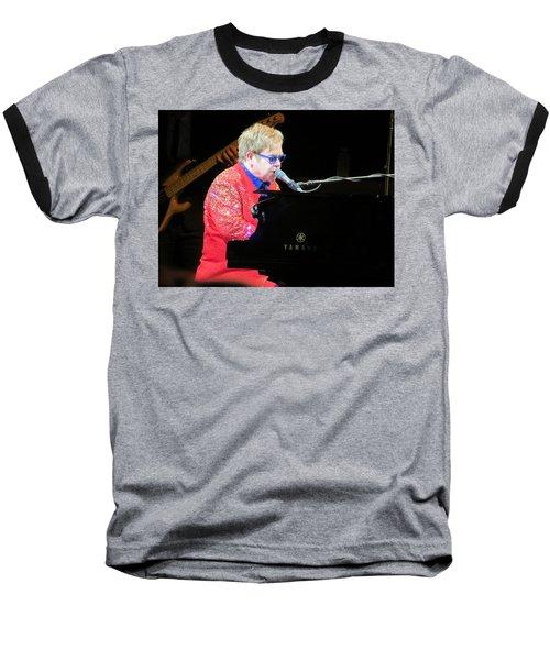 Elton John Live Baseball T-Shirt by Aaron Martens