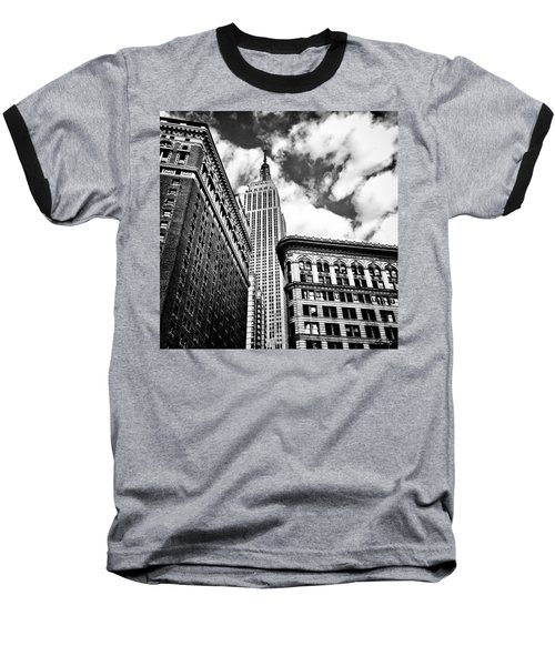 Empire State Building And New York City Skyline Baseball T-Shirt by Vivienne Gucwa