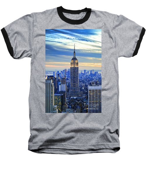 Empire State Building New York City Usa Baseball T-Shirt by Sabine Jacobs