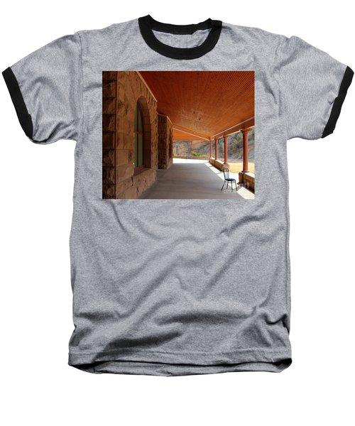 Baseball T-Shirt featuring the photograph Evans Porch by Bill Gabbert