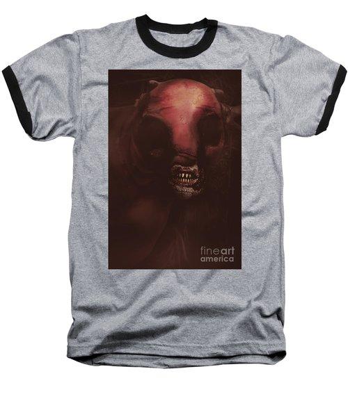 Evil Greek Mythology Minotaur Baseball T-Shirt by Jorgo Photography - Wall Art Gallery