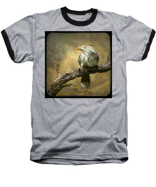 Exotic Bird - Guira Cuckoo Bird Baseball T-Shirt by Gary Heller
