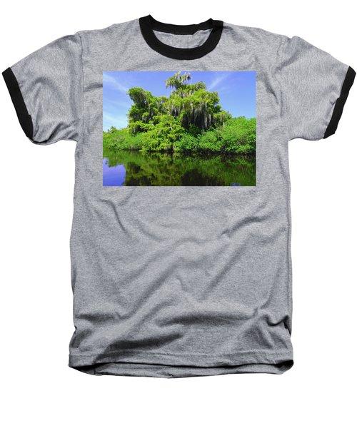 Florida Swamps Baseball T-Shirt by Carey Chen