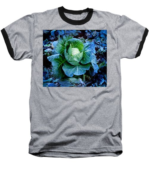 Flower Baseball T-Shirt by Julian Cook