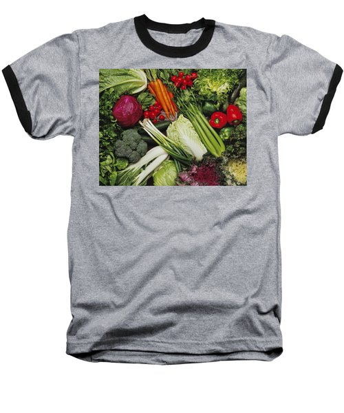Food- Produce, Mixed Vegetables Baseball T-Shirt by Ed Young