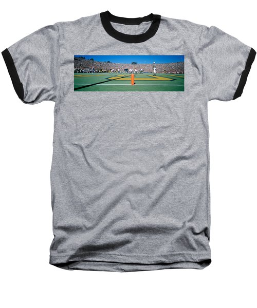 Football Game, University Of Michigan Baseball T-Shirt by Panoramic Images
