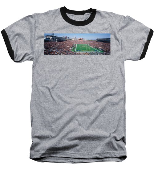 Football, Soldier Field, Chicago Baseball T-Shirt by Panoramic Images