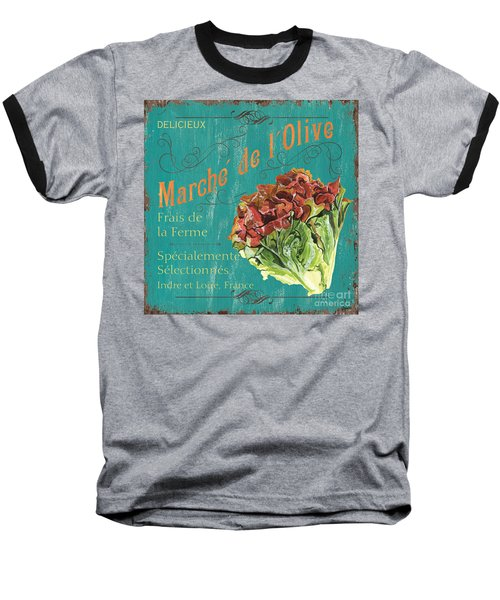 French Market Sign 3 Baseball T-Shirt by Debbie DeWitt