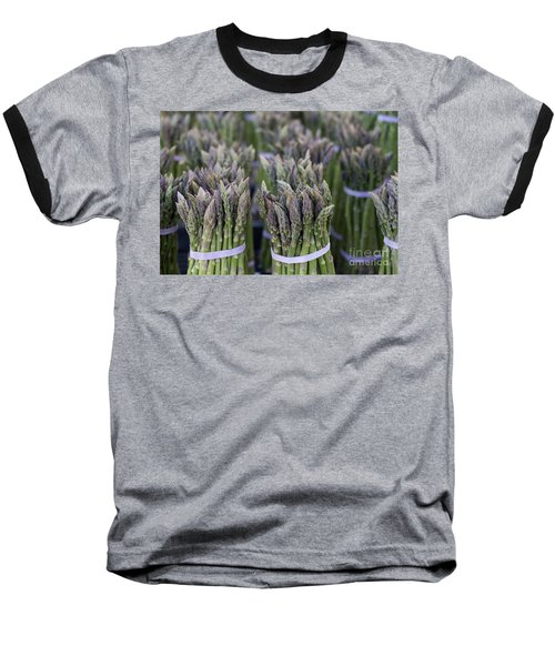 Fresh Asparagus Baseball T-Shirt by Mike  Dawson