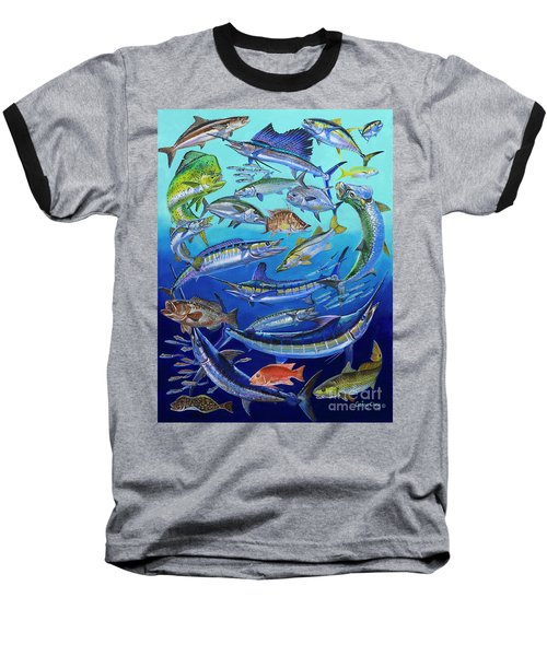 Gamefish Collage In0031 Baseball T-Shirt by Carey Chen