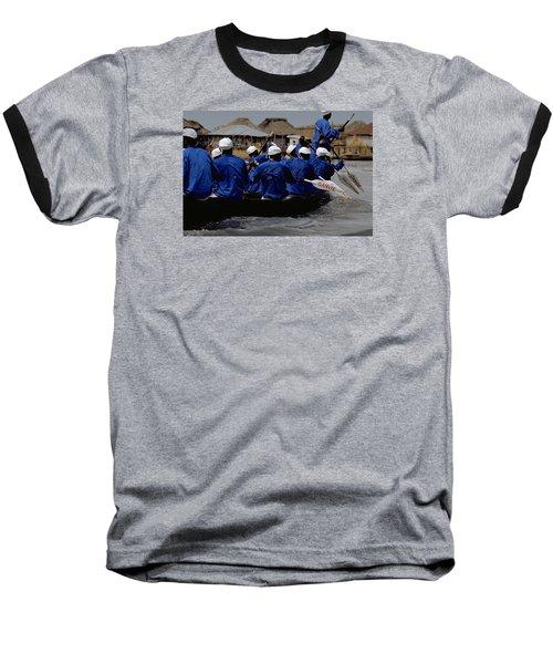 Baseball T-Shirt featuring the photograph Ganvie - Lake Nokoue by Travel Pics