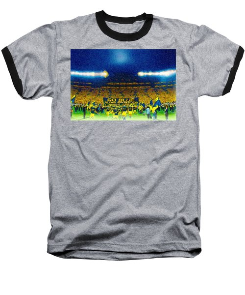 Glory At The Big House Baseball T-Shirt by John Farr