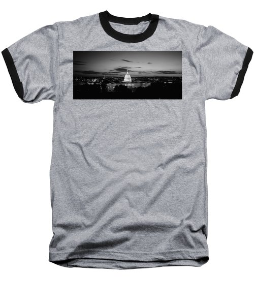 Government Building Lit Up At Night, Us Baseball T-Shirt by Panoramic Images