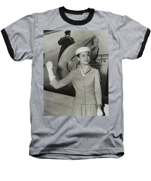 Grace Kelly In 1956 Baseball T-Shirt by Mountain Dreams