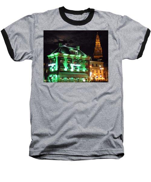 Grasshopper Bar Baseball T-Shirt by Adam Romanowicz