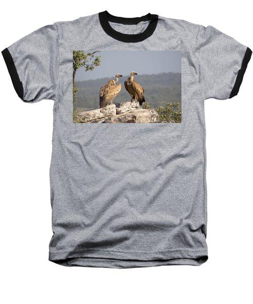 Griffon Vulture Pair Extremadura Spain Baseball T-Shirt by Gerard de Hoog