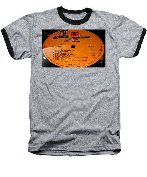 Harvest - Neil Young Side 1 Baseball T-Shirt by Marcello Cicchini