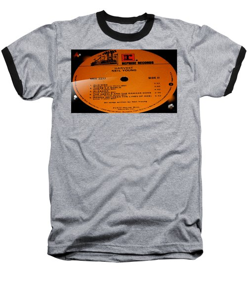 Harvest Neil Young Side 2 Baseball T-Shirt by Marcello Cicchini