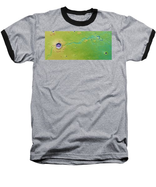 Baseball T-Shirt featuring the photograph Hephaestus Fossae, Mars by Science Source