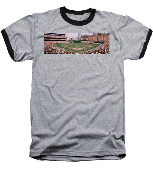 High Angle View Of A Baseball Field Baseball T-Shirt by Panoramic Images