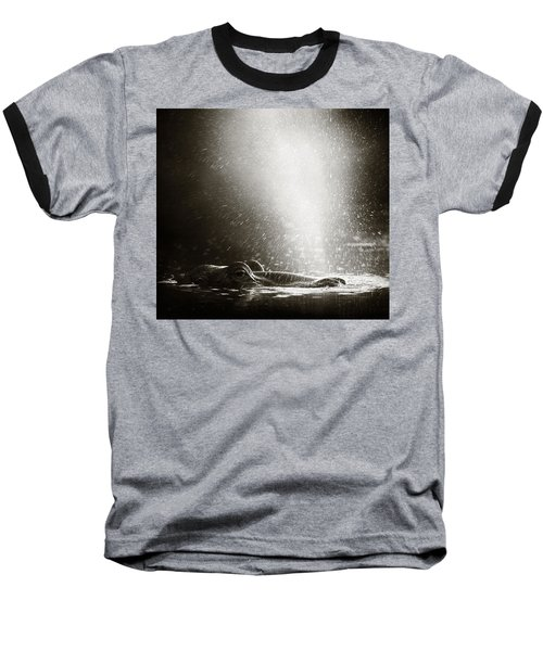 Hippo Blowing  Air Baseball T-Shirt by Johan Swanepoel