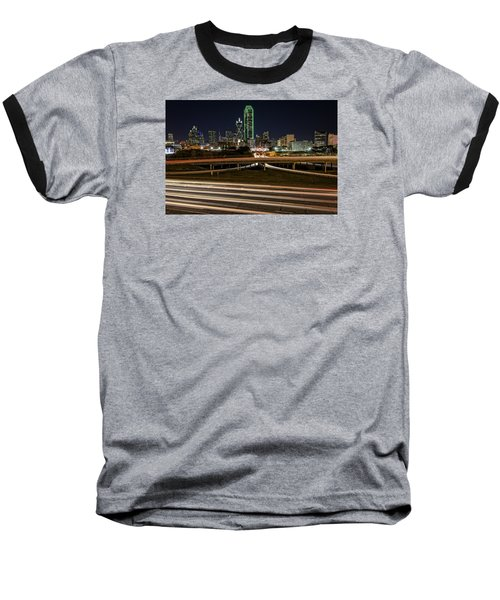 I-35e Dallas Baseball T-Shirt by Rick Berk